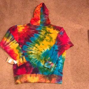 MV Sport Jackets & Coats - Tie dye hooded sweatshirt